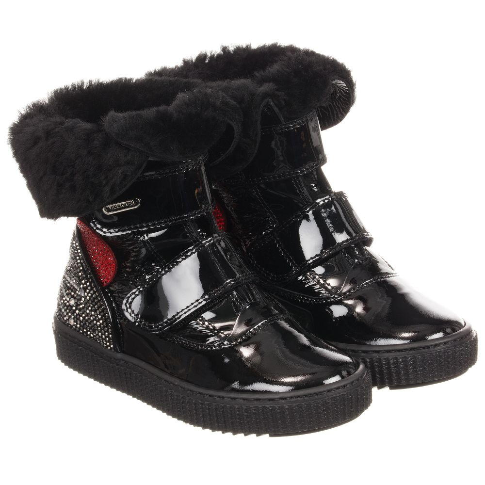 MissouriBlack Boots Childrensalon Outlet 224567 Patent Product Number Leather USVqzpM