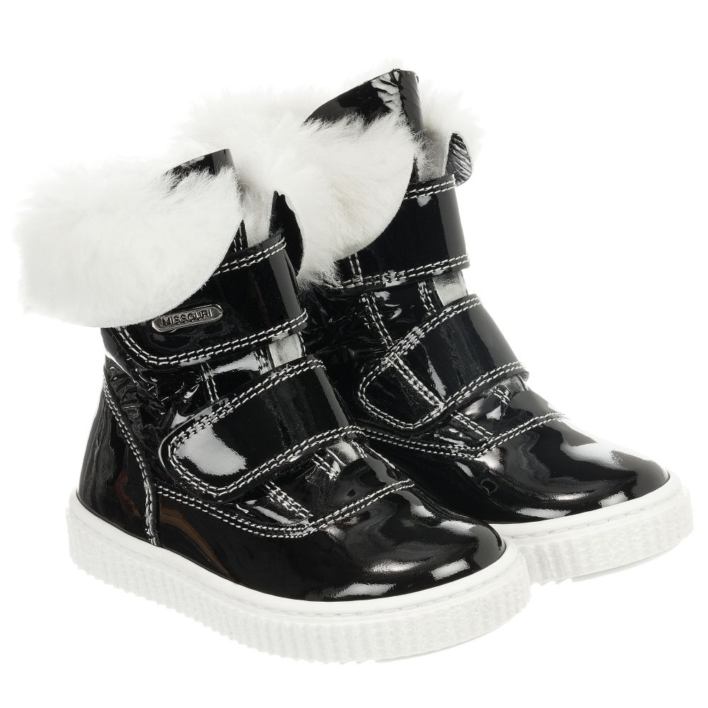 Lined Black Boots Outlet MissouriGirls Fur Number 186708 Product Childrensalon q5AL3Rc4j