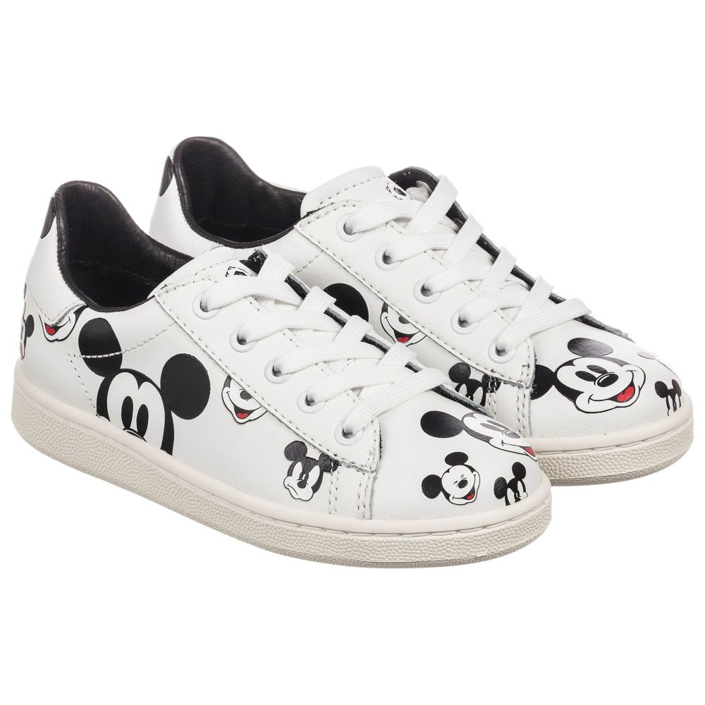 Leather Moa Sneakers Number 199560 ArtsWhite Disney Master Childrensalon Product Of Outlet 5T1c3uFlKJ