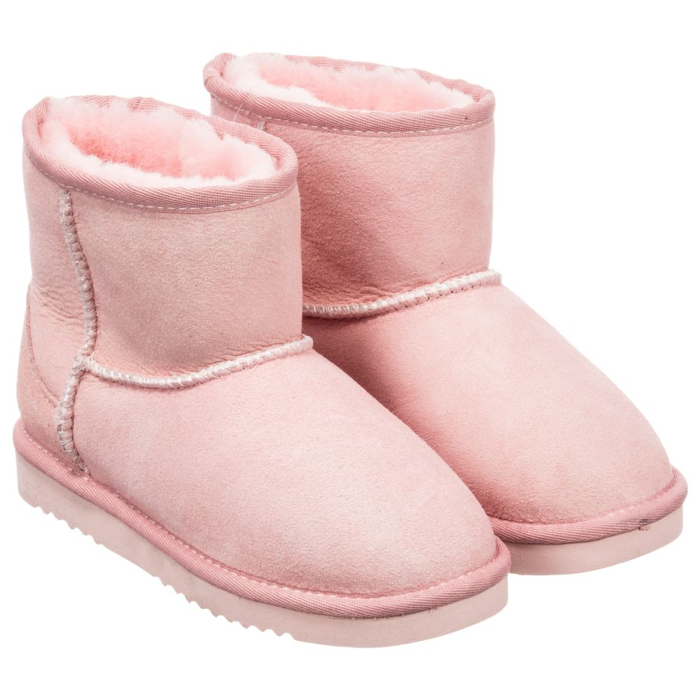 Pink Outlet 217182 MoloDry Number Childrensalon Product Sheepskin Boots zSUpMVq