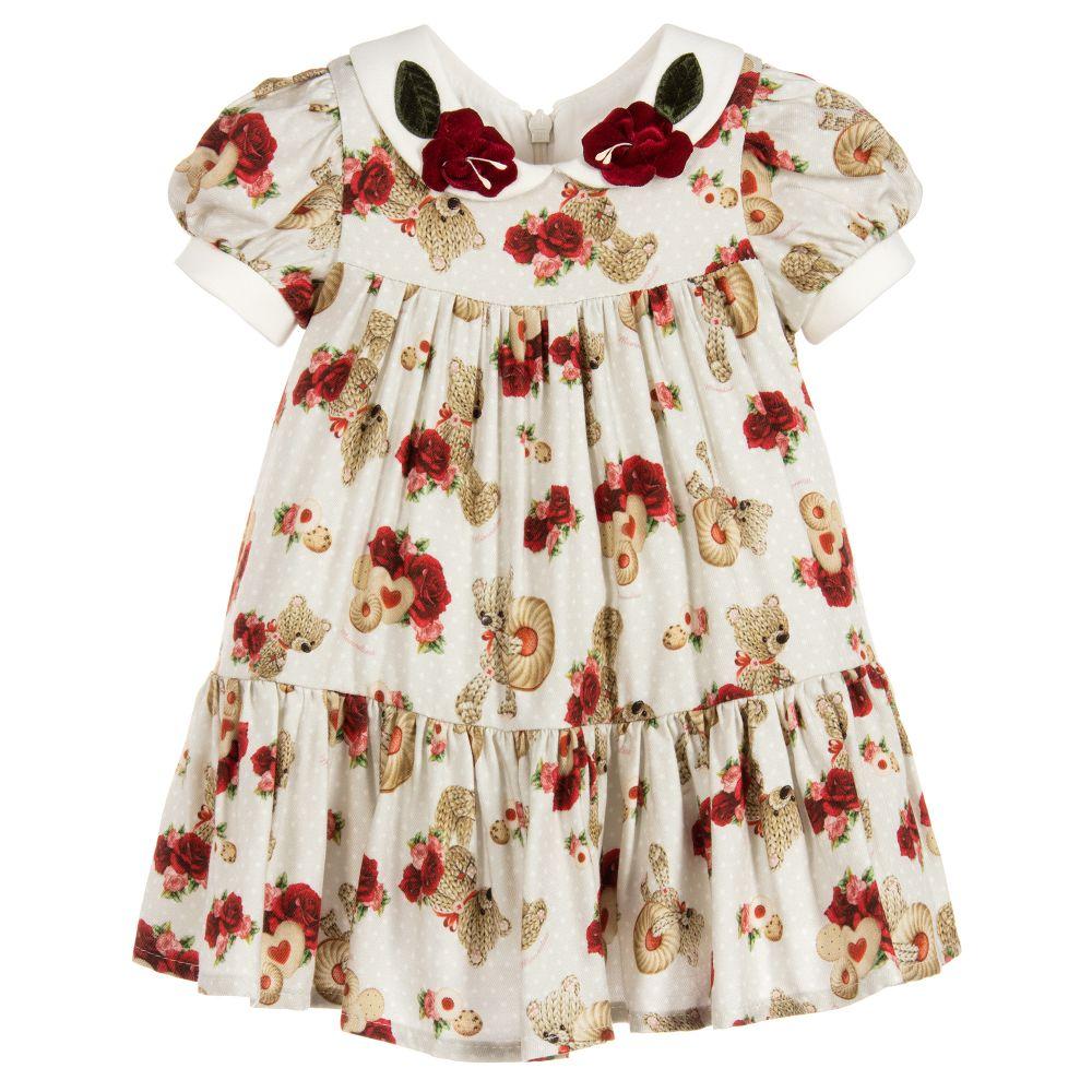 48c0437e1aa7f Monnalisa Bebé - Baby Girls Beige Teddy Dress