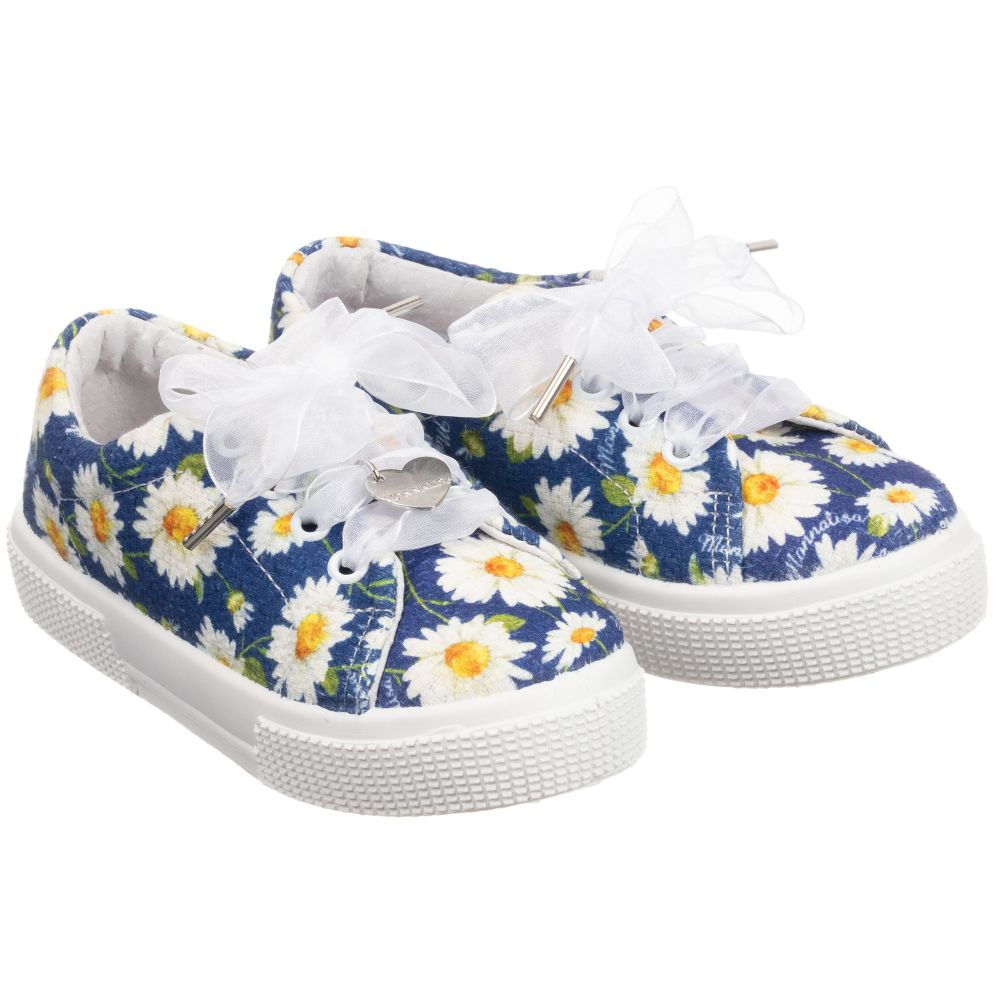 Outlet Number MonnalisaGirls Daisy 235110 Trainers Product Blue Childrensalon I2EDeWH9Yb