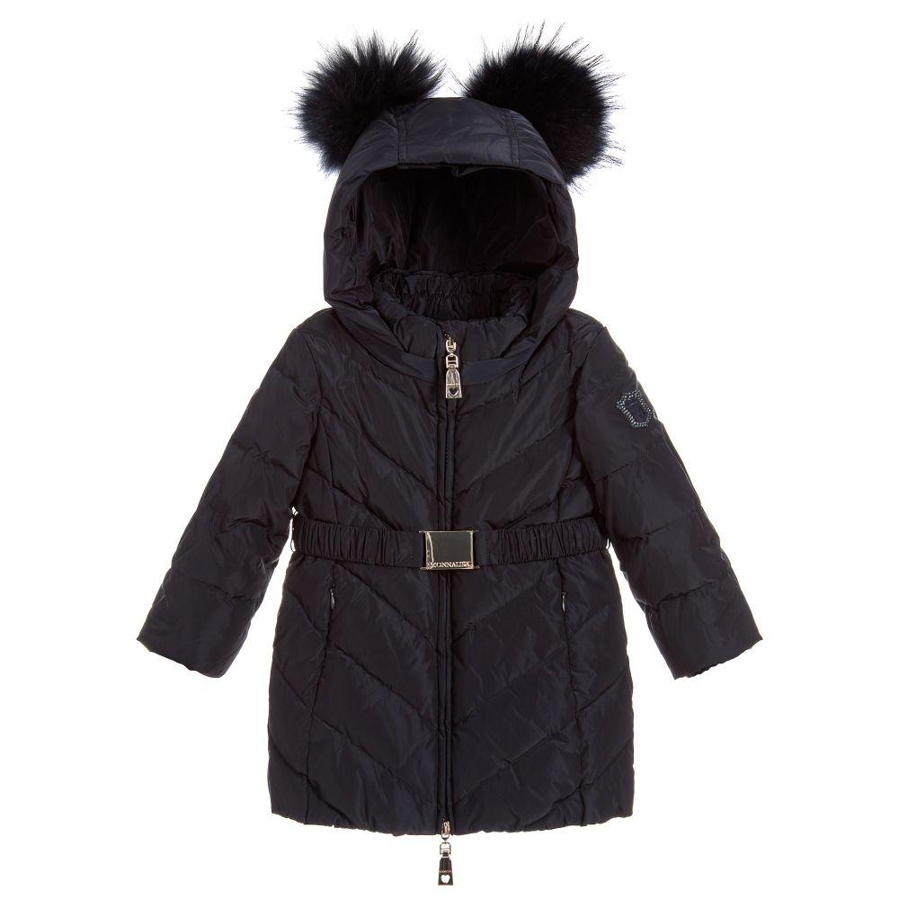 ae992f6b2022 Monnalisa Bebé - Girls Blue Down Padded Coat