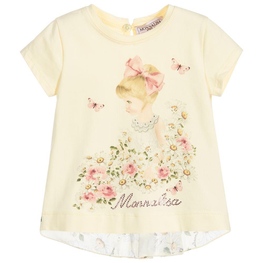 d60973e06 Monnalisa - Girls Cotton & Viscose Top | Childrensalon Outlet