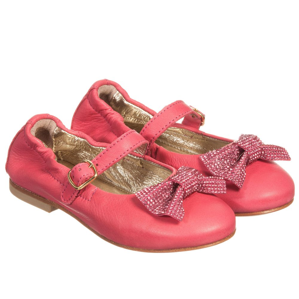 Leather Shoes 171303 Childrensalon Dark Pink MonnalisaGirls Outlet Product Number IybfgvmY67