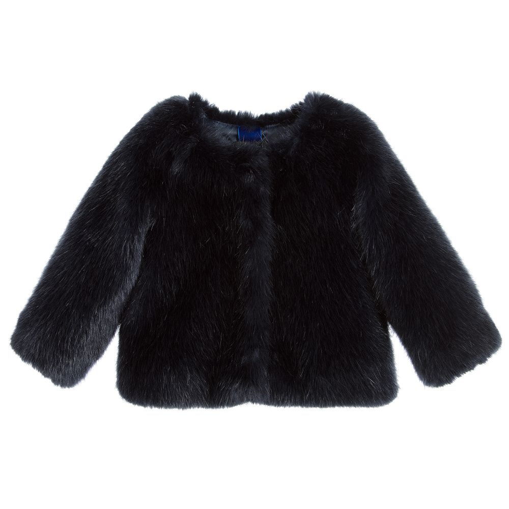 78bdad116372 Monnalisa - Girls Faux Fur Jacket