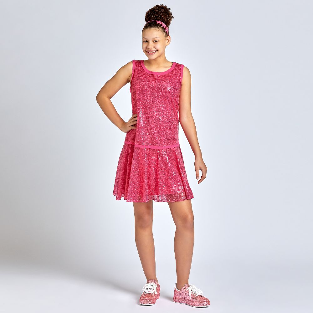 pretty cheap new product 100% top quality Monnalisa - Girls Pink Sequin Dress | Childrensalon Outlet