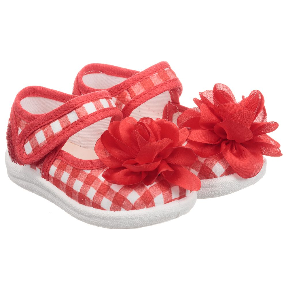 Red Product 253808 Childrensalon Number Canvas Shoes Outlet MonnalisaGirls oWrxBedC