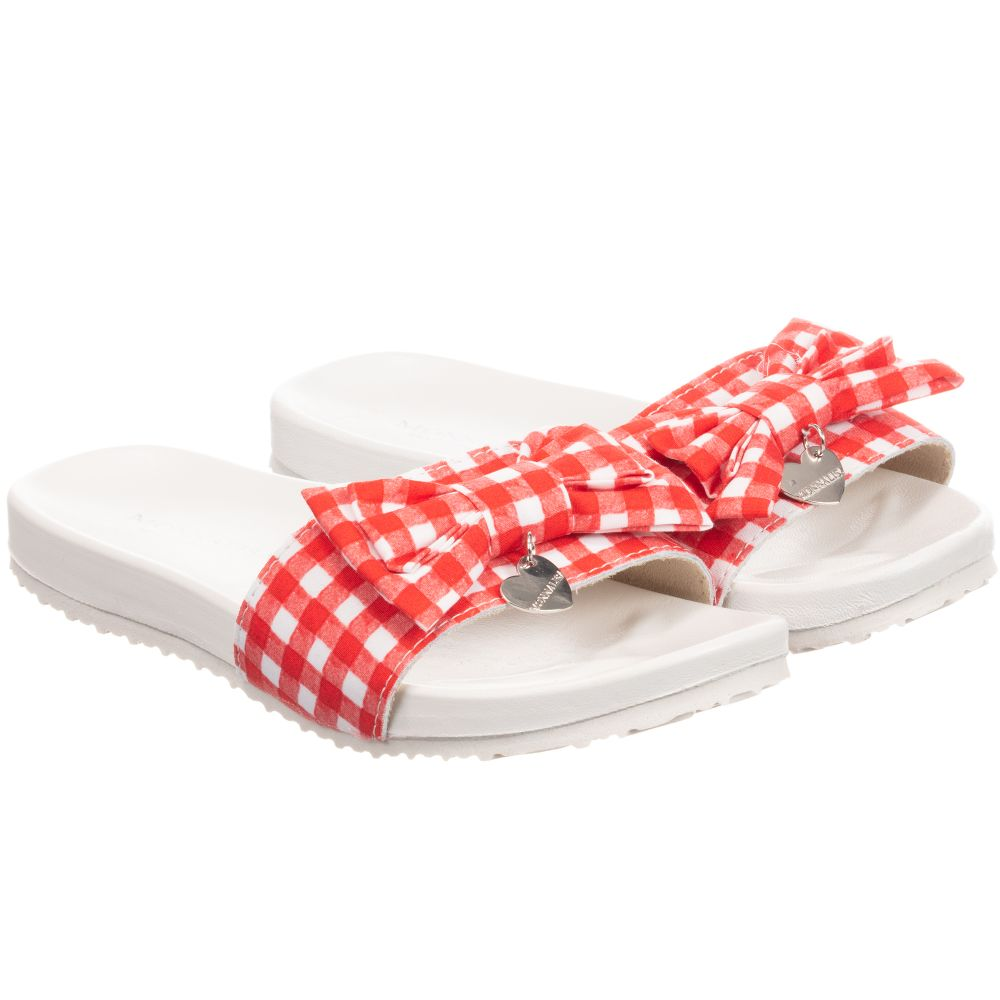 253807 Product Gingham MonnalisaGirls Sliders Outlet Number Red Childrensalon qzLUpSGjMV