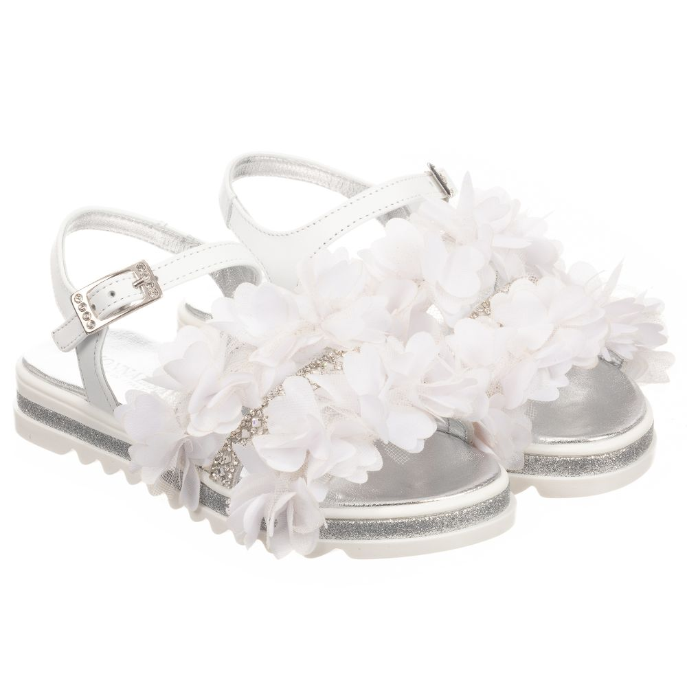 White MonnalisaGirls Sandals Outlet Childrensalon Product Number 253822 Leather wk08OnP