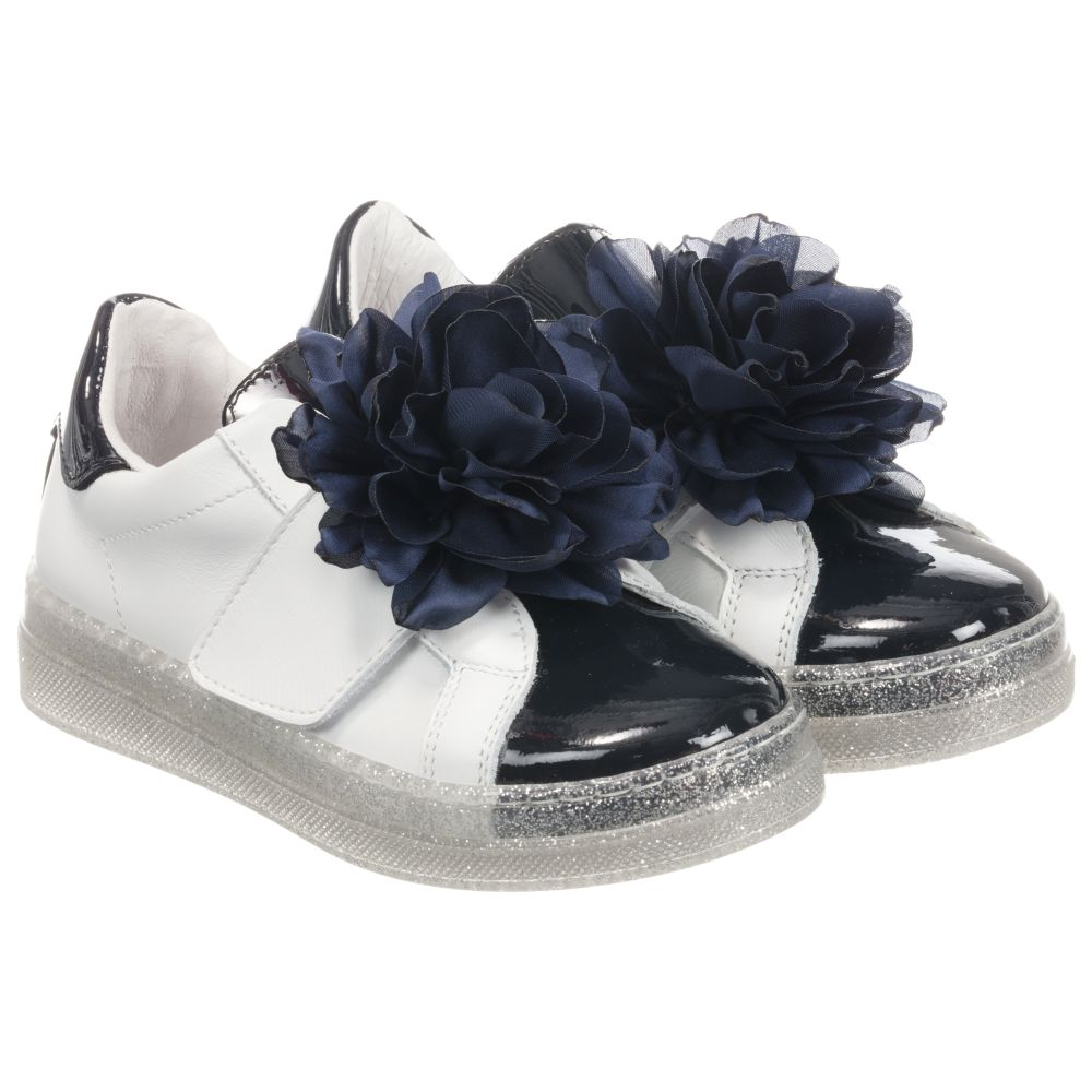 White Leather Childrensalon 253818 Product Trainers MonnalisaGirls Number Outlet 4LcjS5AR3q