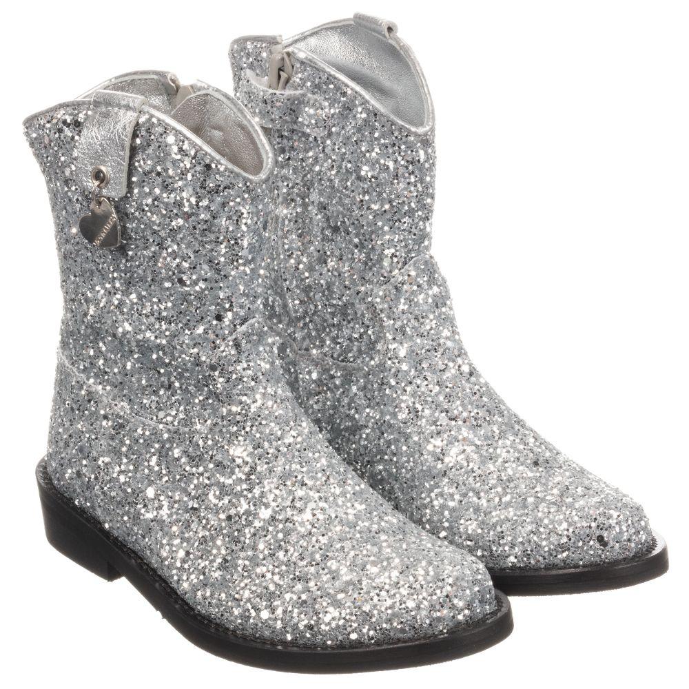 Monnalisa - Silver Glittery Boots