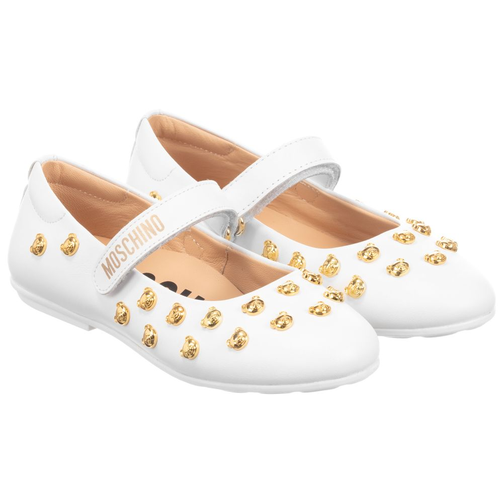 so cheap premium selection official supplier Moschino Kid-Teen - Girls White Leather Shoes | Childrensalon Outlet
