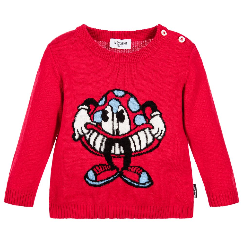 c3f91fdf3 Moschino Baby - Red Knitted Baby Sweater