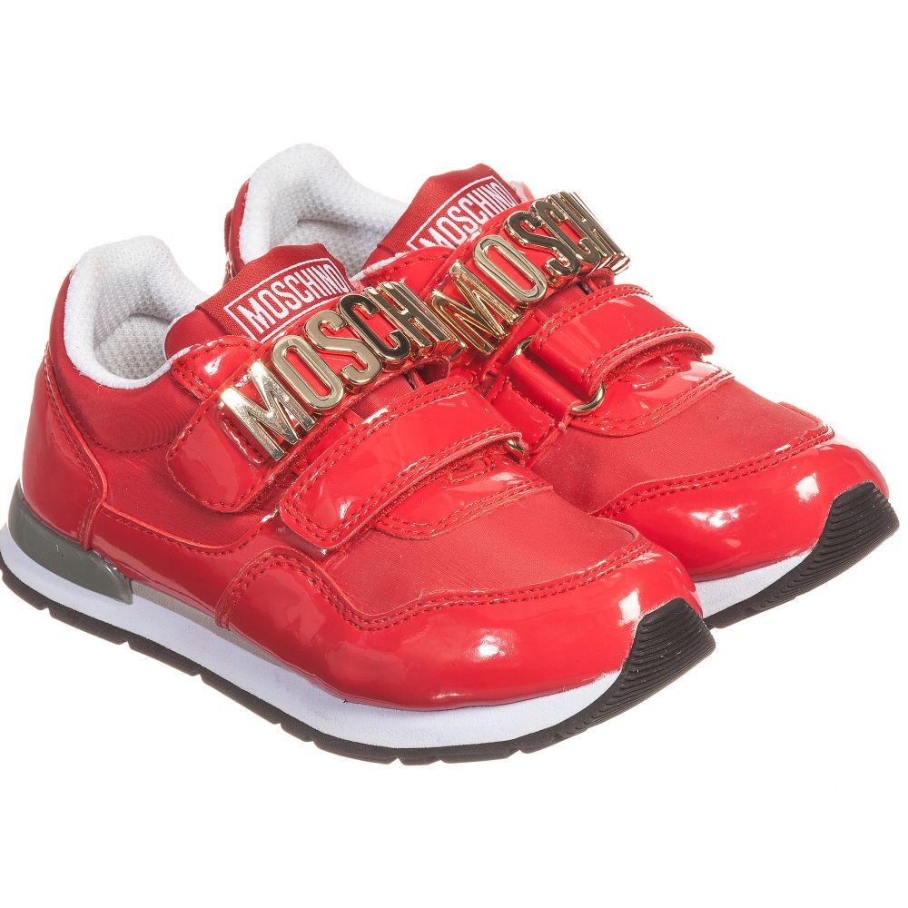 Moschino Kid-Teen - Red Patent Trainers