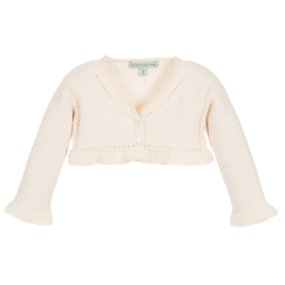 0f1b90ab5 Nanos - Baby Girls Beige Knitted Cardigan