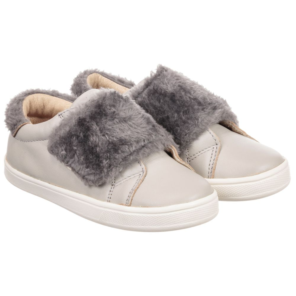 224614 Trainers Product SolesGirls Childrensalon Leather Outlet Old Grey Number vmy0wN8nO