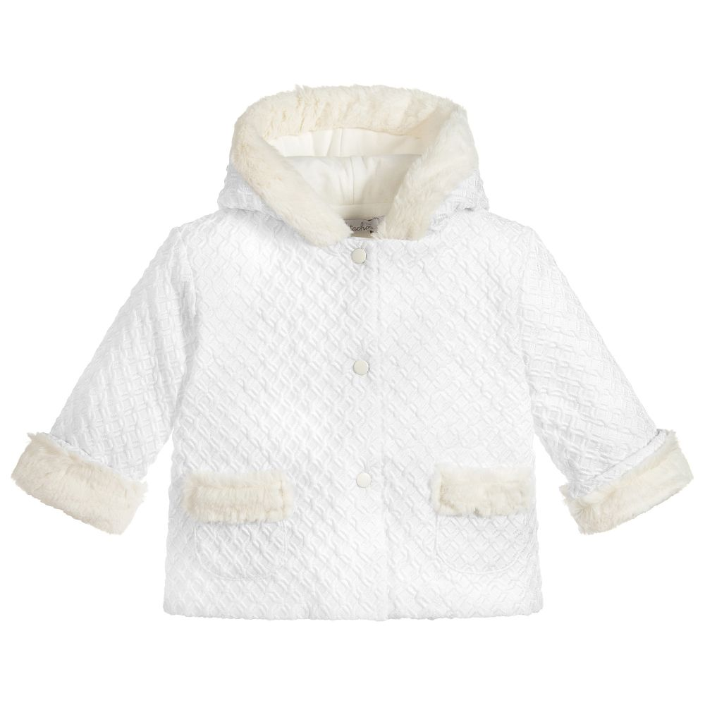 7174d3750 Patachou - Baby Girls White Pram Coat | Childrensalon Outlet