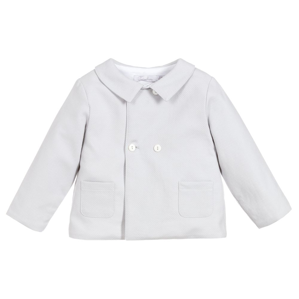 a8d363dce Patachou - Grey Cotton Baby Jacket