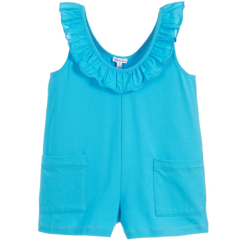 2cca74d439 Piccola Ludo - Girls Turquoise Playsuit