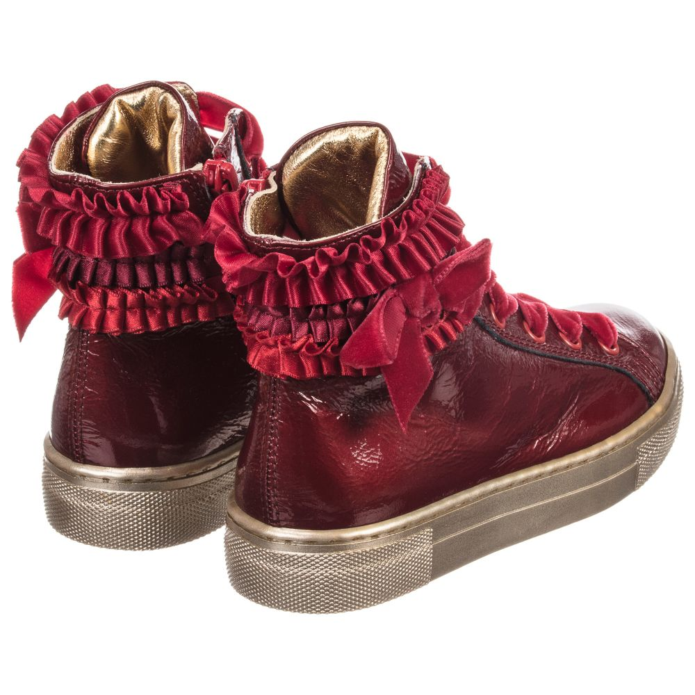 Quis Quis - Girls Red High Top Trainers