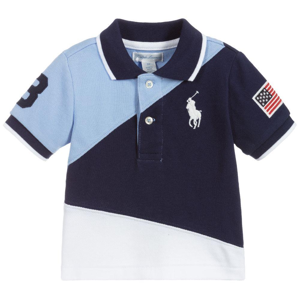Baby Boys Blue Polo Shirt