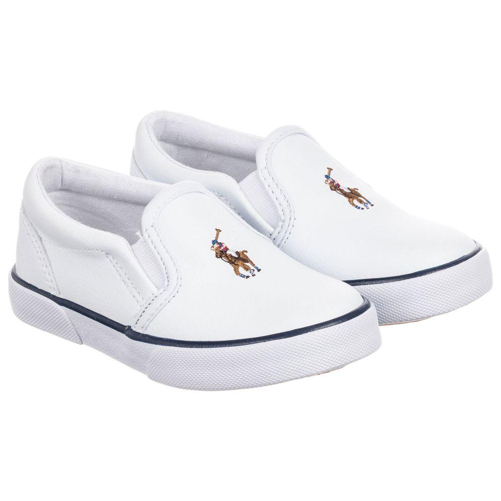 Polo Ralph Lauren - White Logo Slip-On