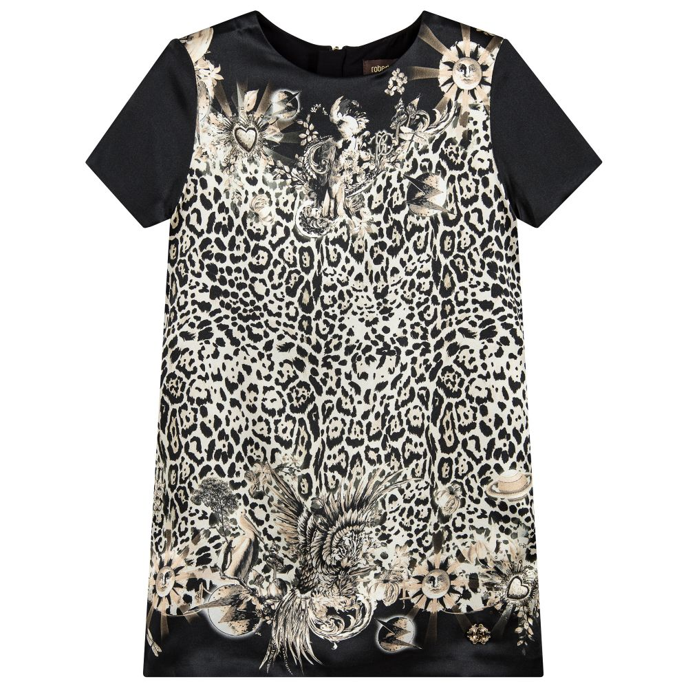 5ba957836a Roberto Cavalli - Girls Silk Leopard Print Dress