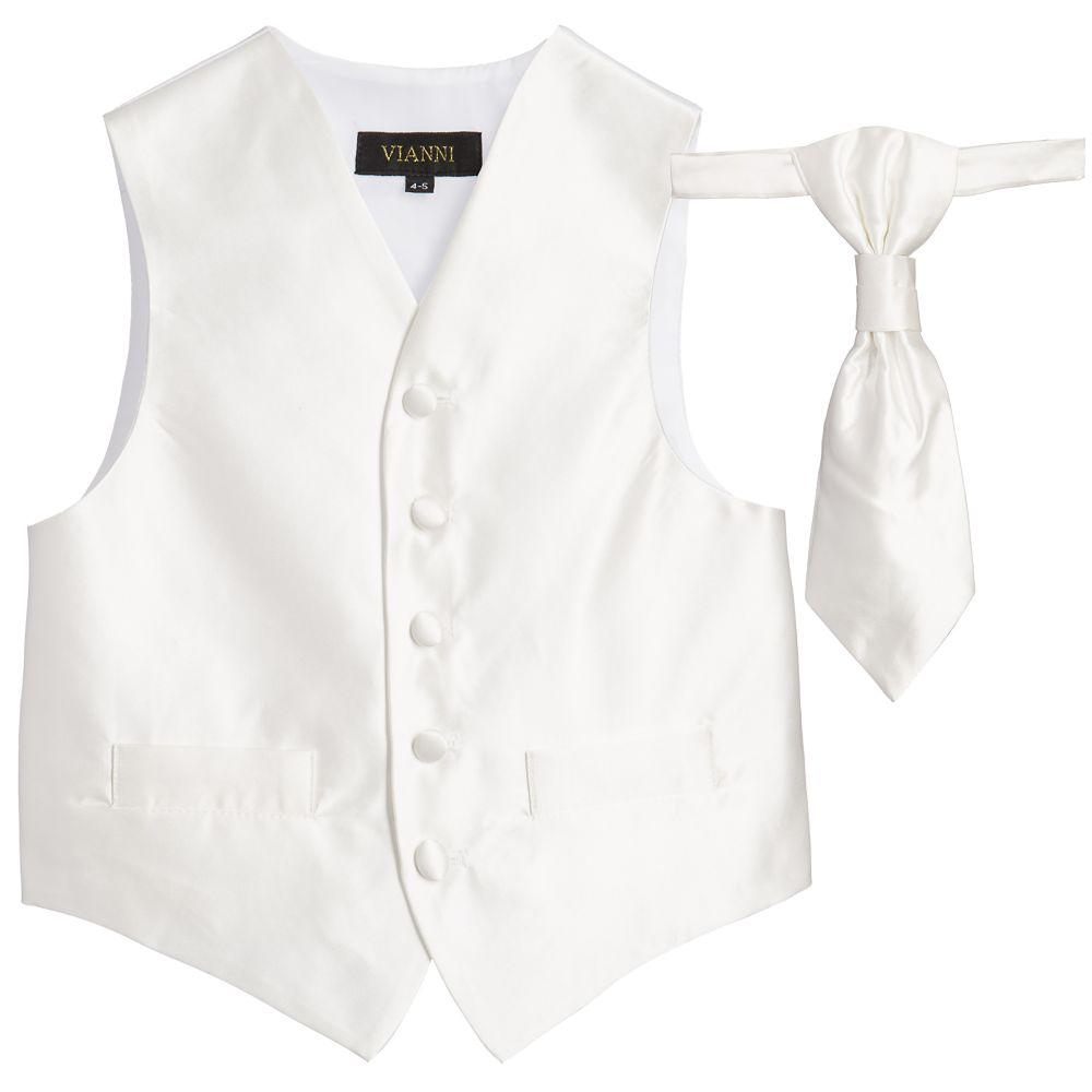 44f81385ad30 ... Romano Vianni - Boys Ivory Waistcoat & Adjustable Tie Set |  Childrensalon ...