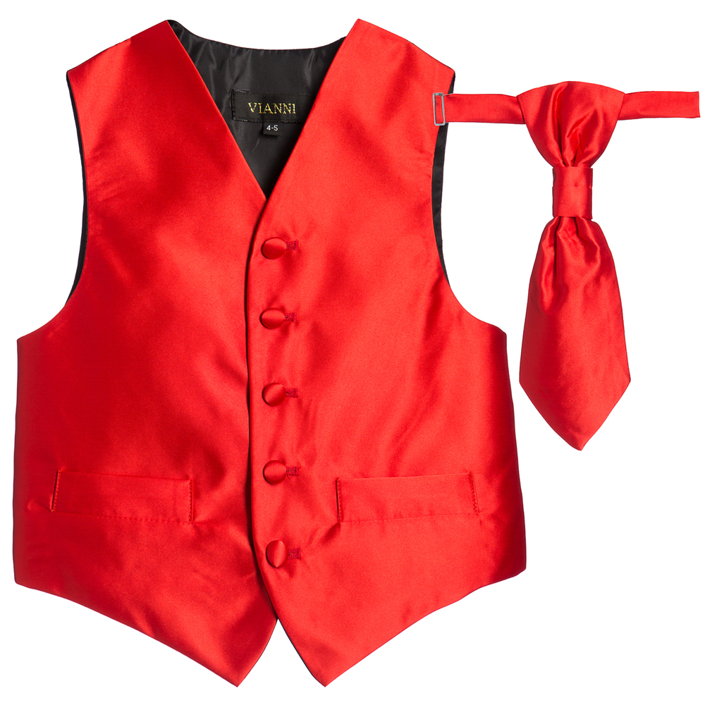 03a88dace4c1 Romano Vianni - Boys Red Waistcoat   Adjustable Tie Set ...