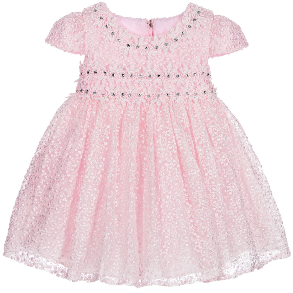 a6cdfc59f923 Romano Princess - Girls Pink Tulle   Diamanté Occasion Dress ...