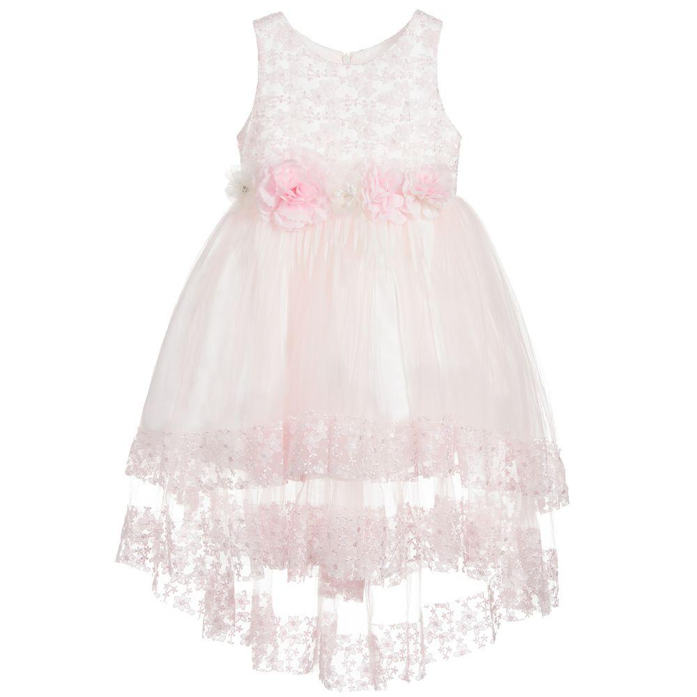 91687806cb9d Romano Princess - Pale Pink Lace & Tulle Dress | Childrensalon Outlet