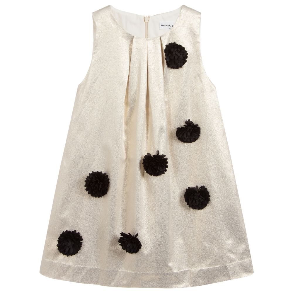 990a45756 Sonia Rykiel Paris - Girls Gold Dress | Childrensalon Outlet