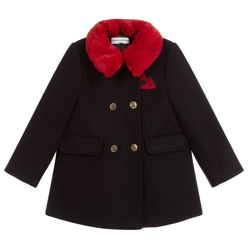 6746bf2cd Sonia Rykiel Paris - Girls Navy Blue Coat | Childrensalon Outlet