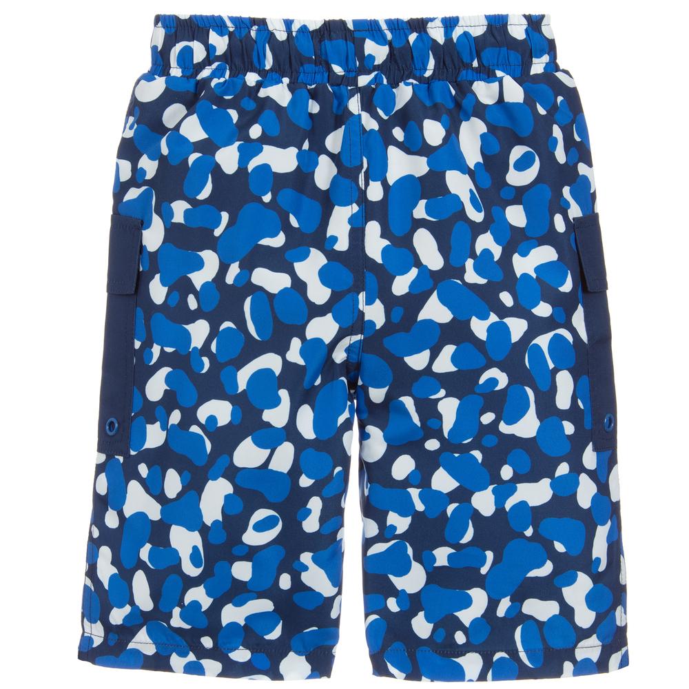Boys Camo Swim Shorts with Mesh Lining and Elasticated Waist
