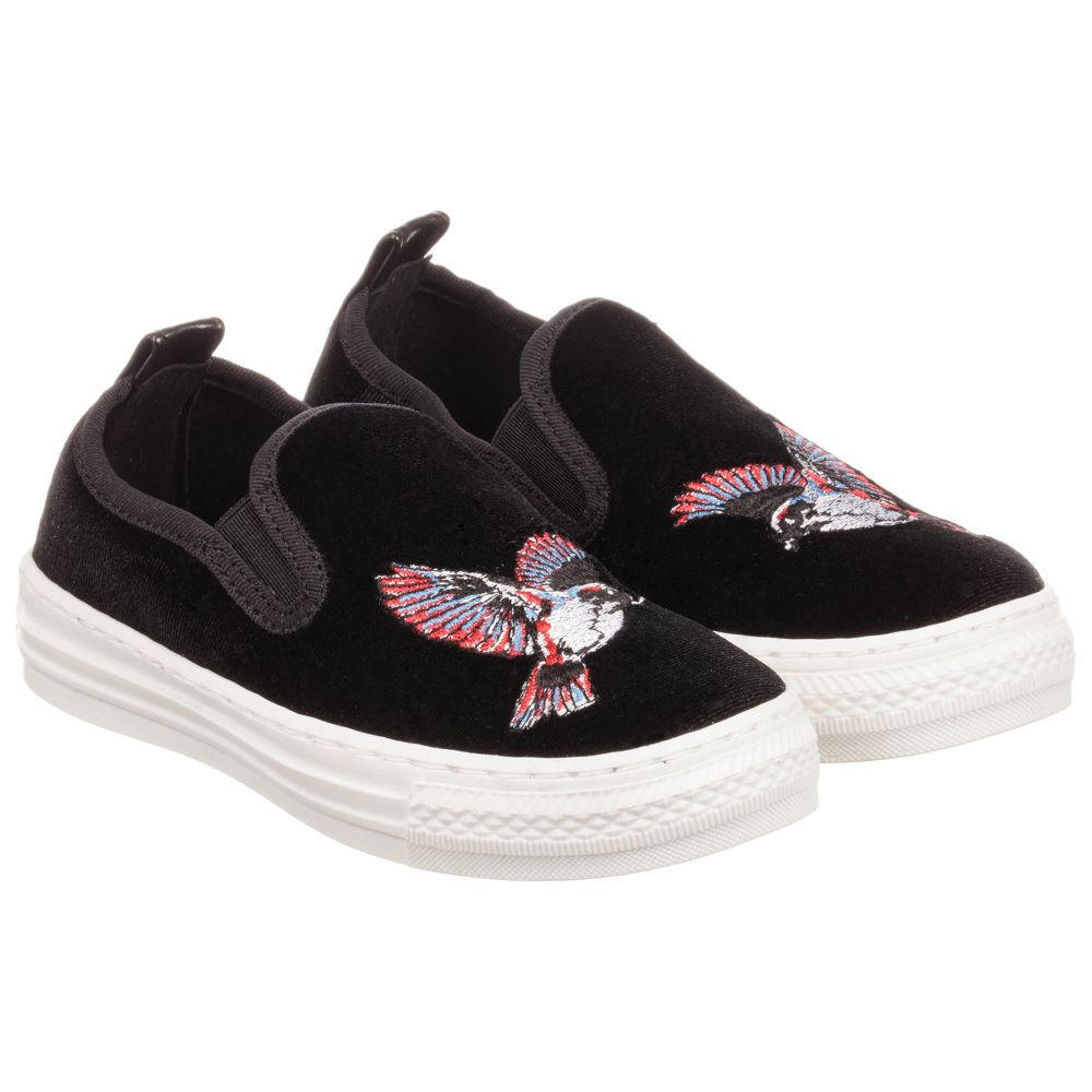 Mccartney Black Product Trainers KidsGirls Eagle Childrensalon Stella Leo Outlet Number 220589 5R34AjL