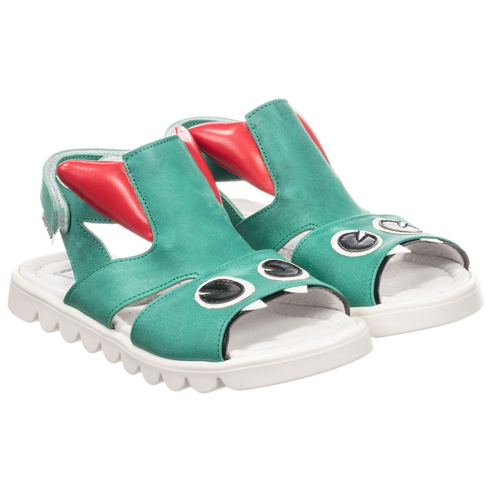 Leather Number 210856 Sandals Product Monster Step2woGreen Childrensalon Outlet qzpGUMVS
