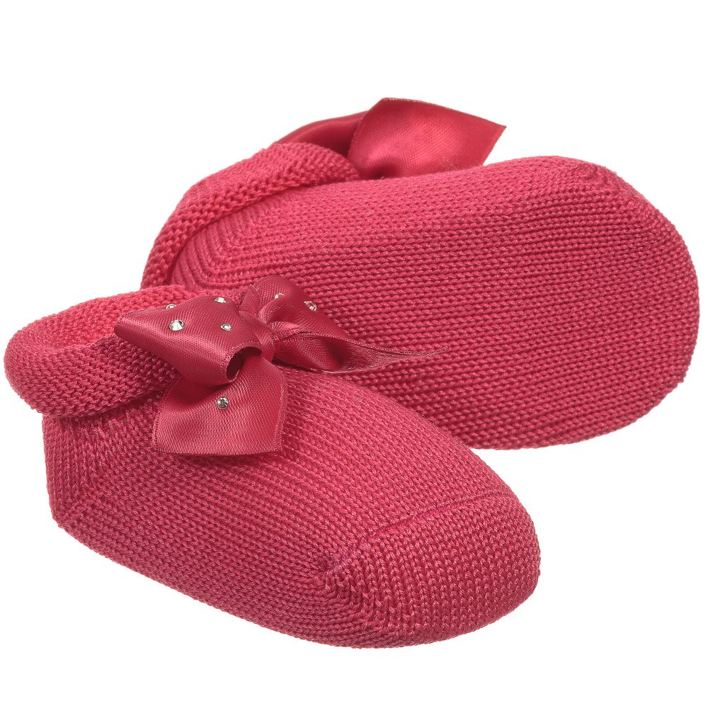 LorisGirls Product Story Outlet Bows Childrensalon With Booties Pink Number Fuchsia 146560 cJl1F3uKT5