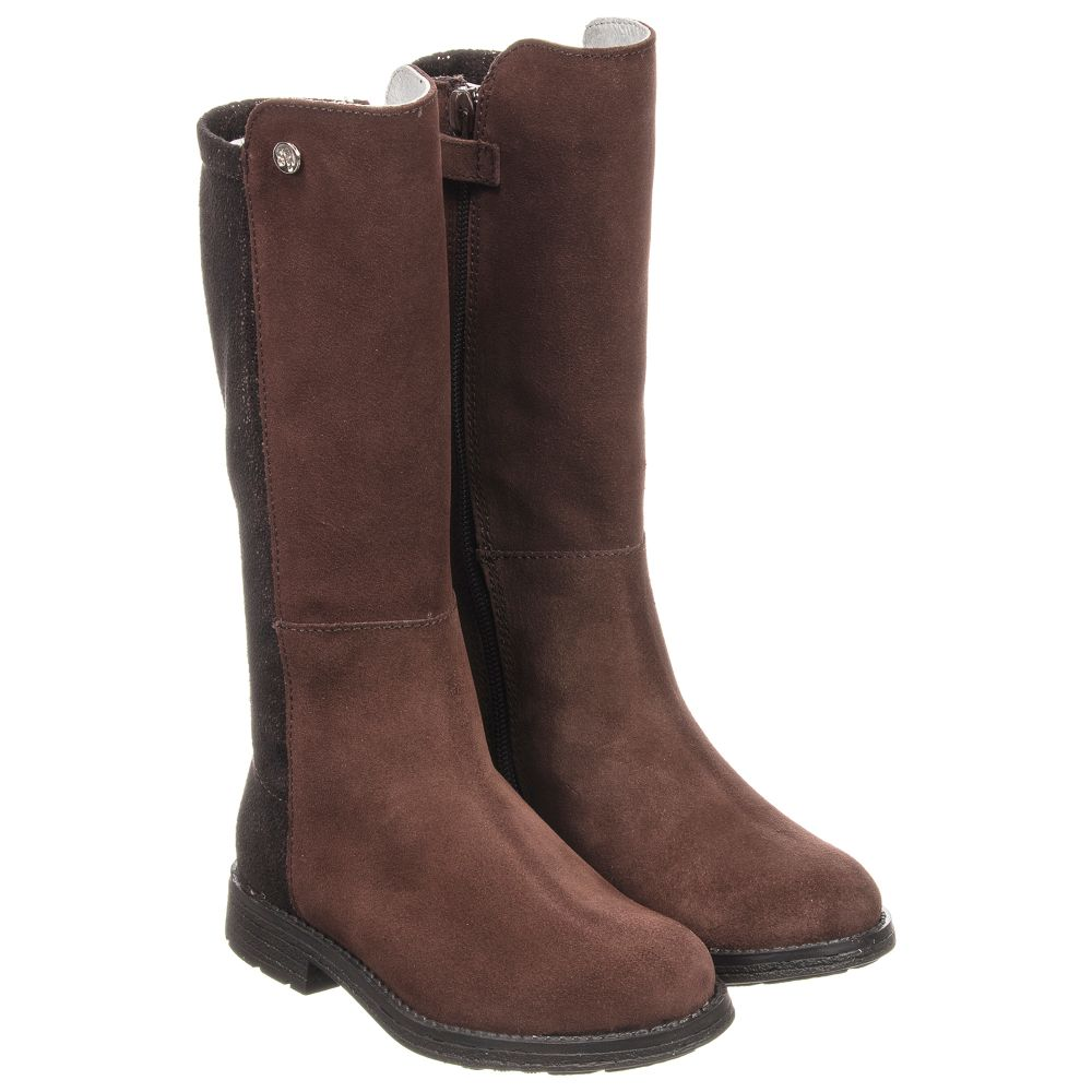 Outlet Number Suede Stuart Boots 230658 WeitzmanGirls Brown Childrensalon Product ZiukOXPT