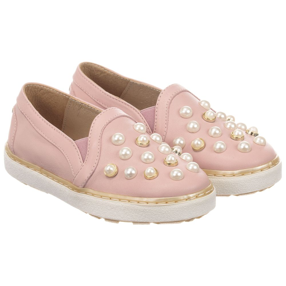 Outlet WeitzmanPink Childrensalon Number Stuart on Shoes Product Leather Slip 255202 CxsBhtQrdo