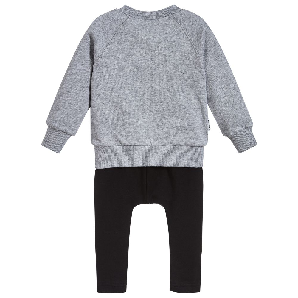 Tiny Tribe - Grey Cotton Baby Outfit | Childrensalon Outlet