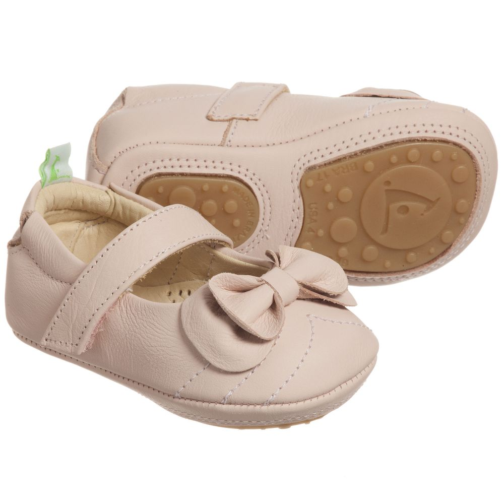 Tip Toey Joey - Baby Girls Pink Leather