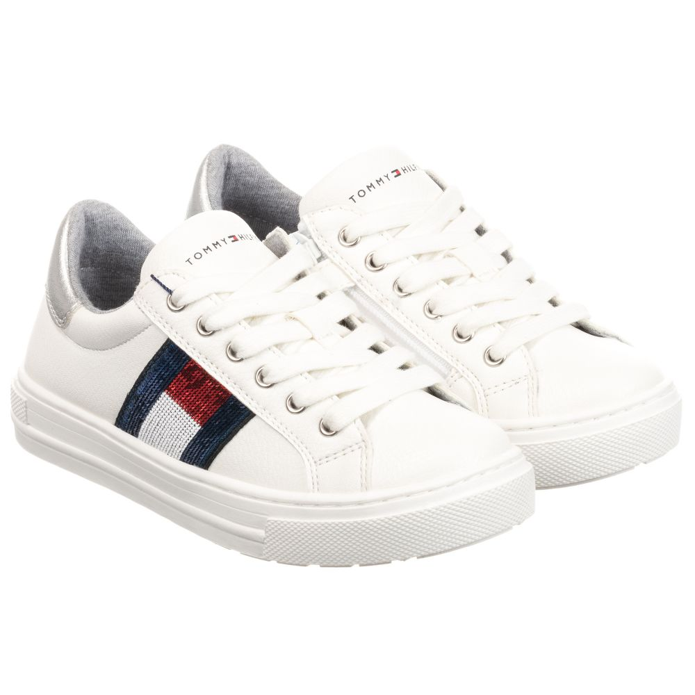 Tommy Hilfiger - White Faux Leather