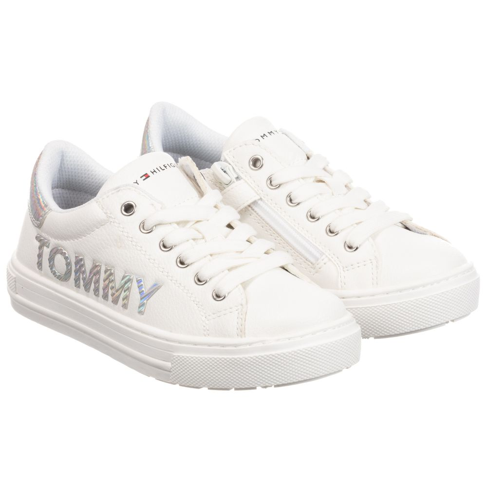 Tommy Hilfiger - White Logo Trainers