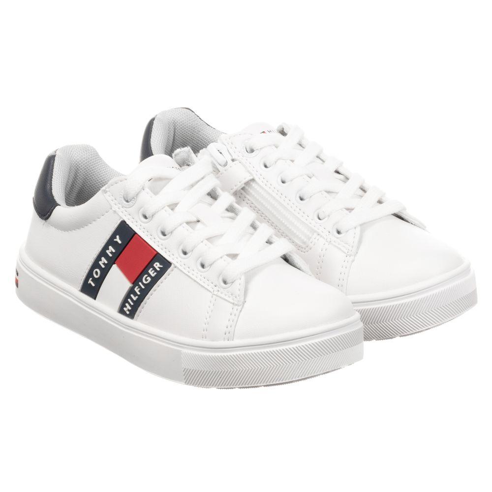 Tommy Hilfiger - White Zip-Up Logo