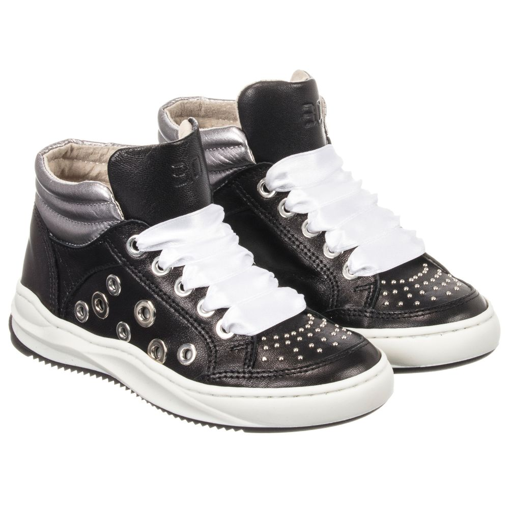Black Trainers Trevirgolazero 3 0Girls 205802 Product Leather Outlet Childrensalon Number 5LcAj34Rq