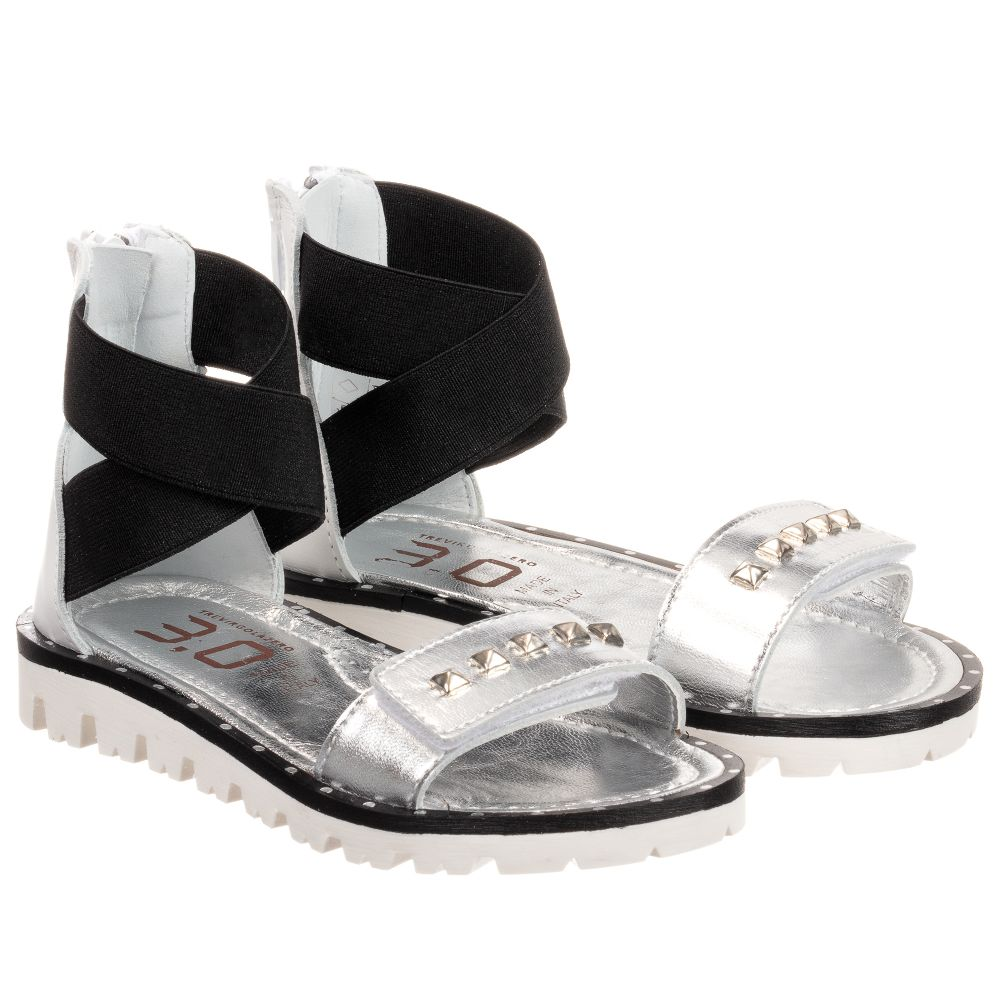 3 Sandals Childrensalon Number Leather Outlet Trevirgolazero Stud 0Girls Product 240488 NOkwnPX8Z0