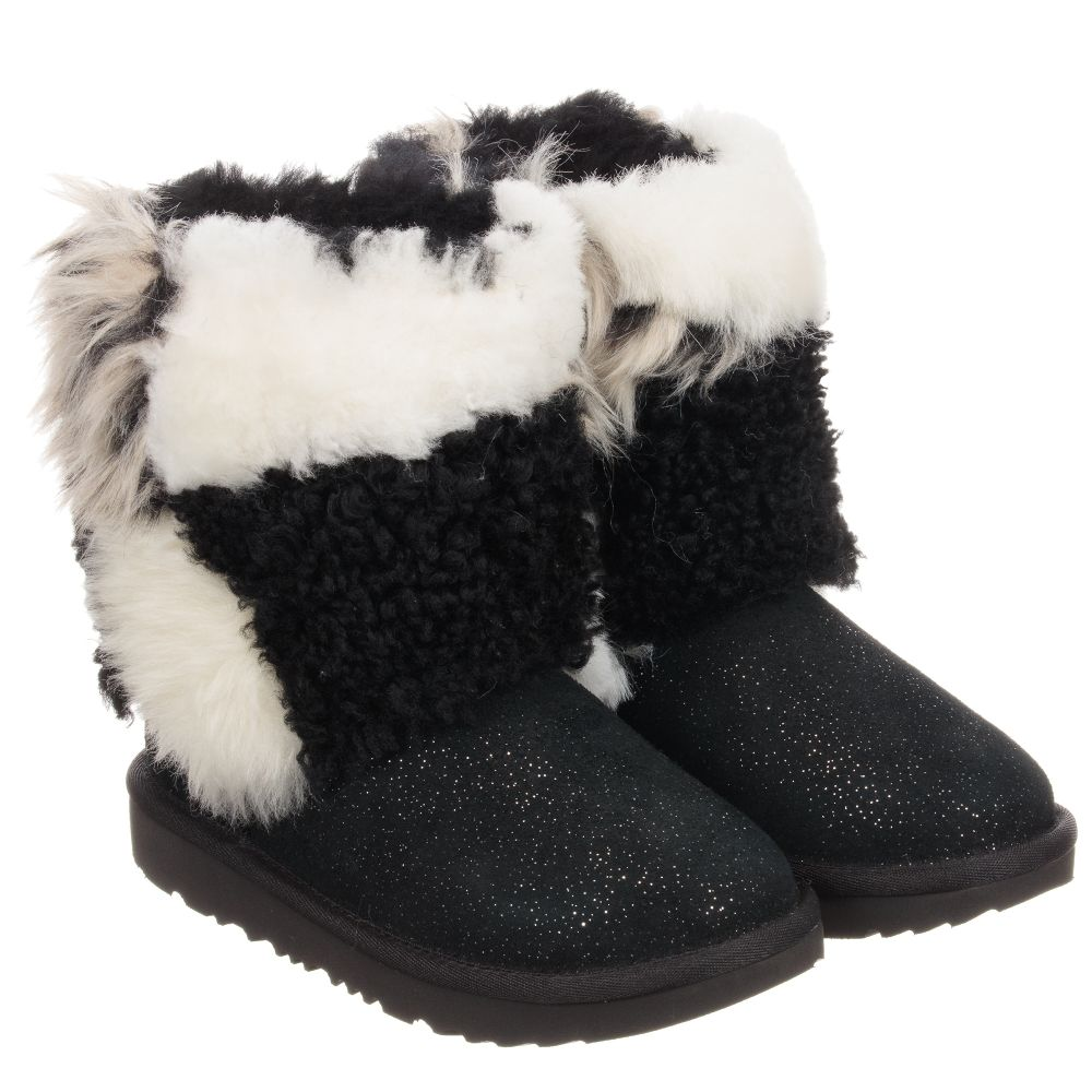 Patchwork Ugg Number AustraliaBlack Boots Outlet Product Suede 233274 Childrensalon 8n0PwkO
