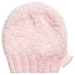 aaf98985ec6 Grevi - Girls Pale Pink Mohair Knitted Hat