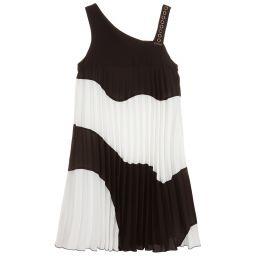 Loredana Monotone Pleated Chiffon Dress Childrensalon Outlet